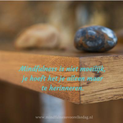 mindfulness herinneren