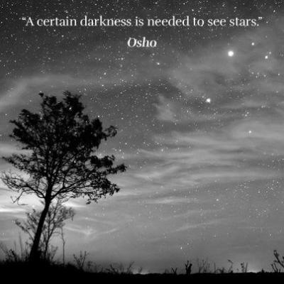 Zonder donker is er geen licht.