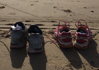 Met de voeten in het zand!