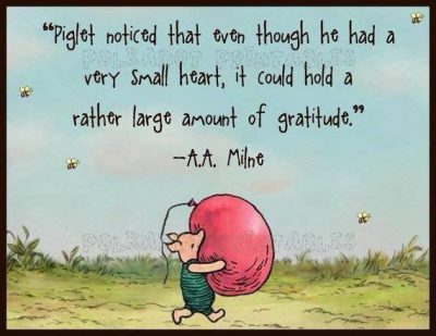 Gratitude with Piglet