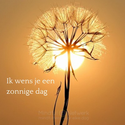 zonnige dag wens