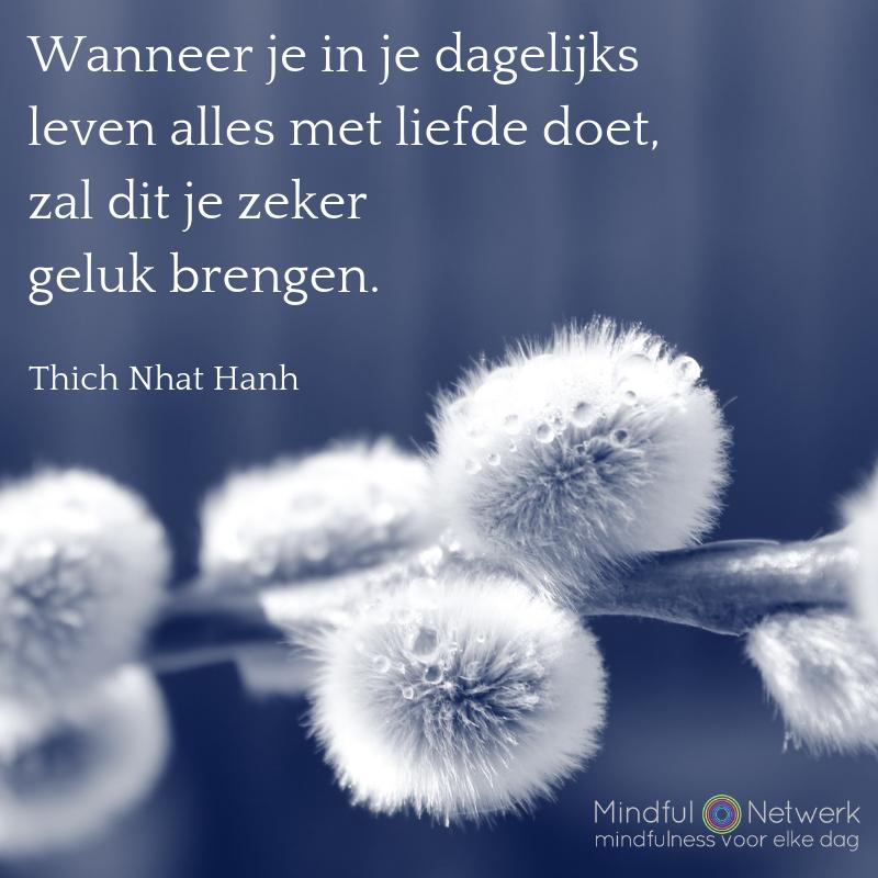 Thich Nhat Hanh liefde en geluk
