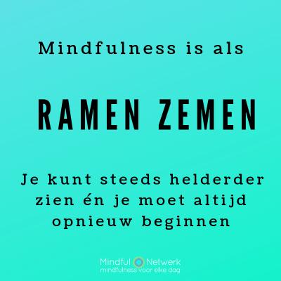 mediteren is als ramen zemen