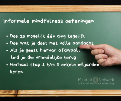 informele mindfulness oefening