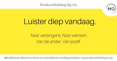 Werkverlichting tip #3