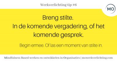 Werkverlichting tip #6
