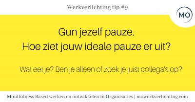 Werkverlichting tip #9