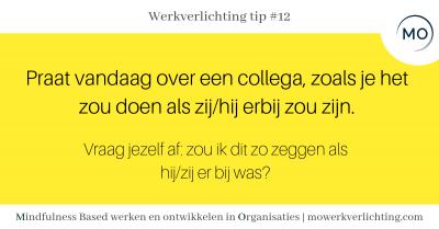 Werkverlichting tip #12