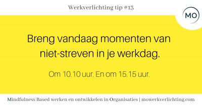 Werkverlichting tip #13