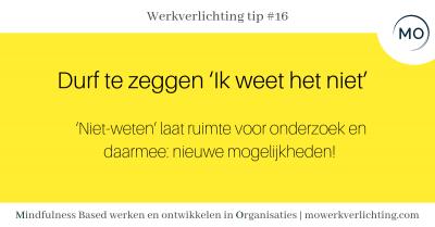 Werkverlichting tip #16