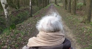 een sabattical, wandelen met moeder