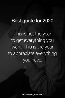 beste quote 2020