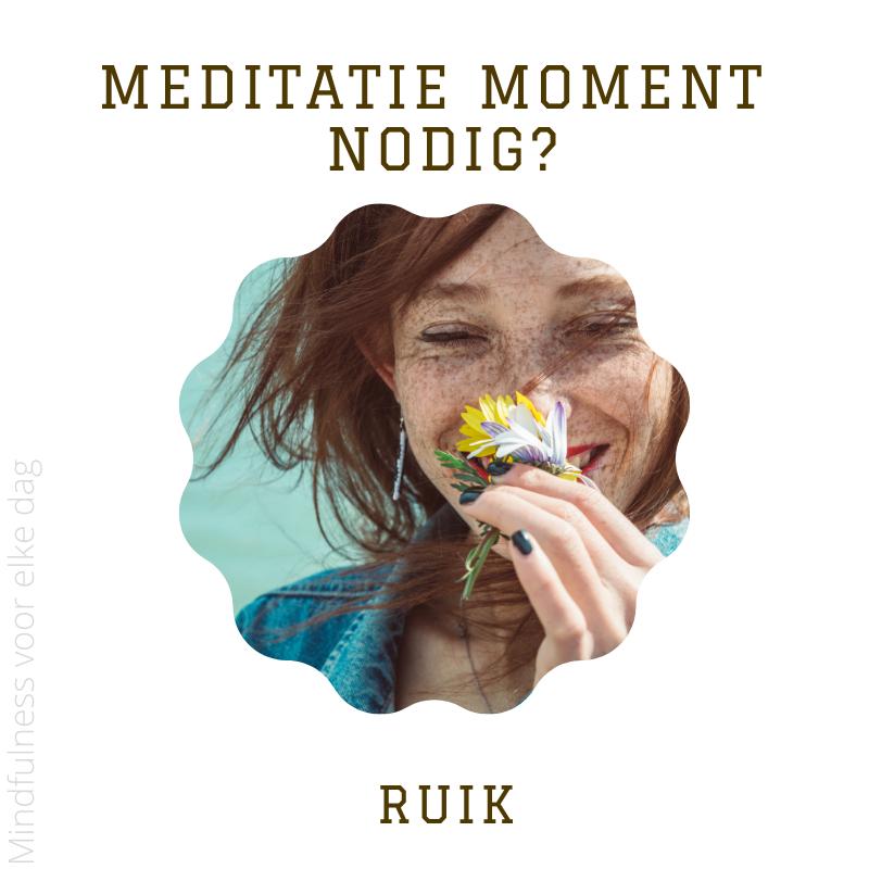 meditatie moment nodig