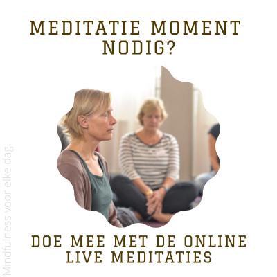 Lees meer over het artikel Meditatiemoment nodig? #26